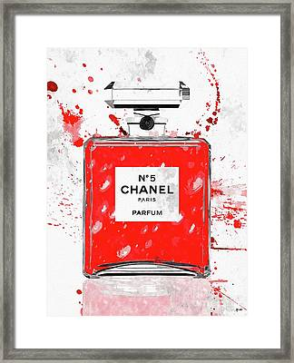 Chanel No 5 Red Framed Print