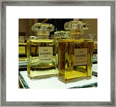 Chanel No 5  Framed Print by To-Tam Gerwe