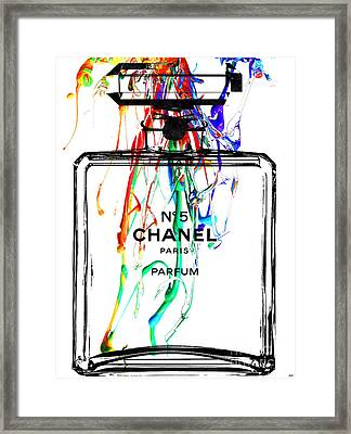 Chanel No. 5 Watercolor Framed Print by Daniel Janda