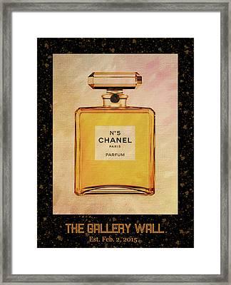Chanel No.5 Parfum Bottle 1 Framed Print