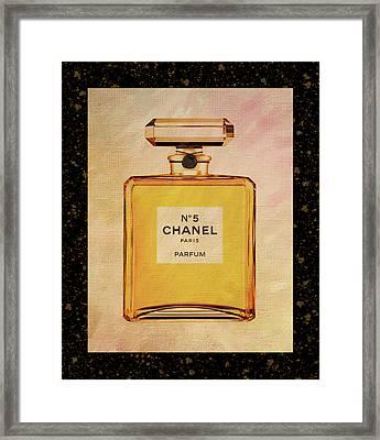 Chanel No.5 Parfum Bottle 2 Framed Print