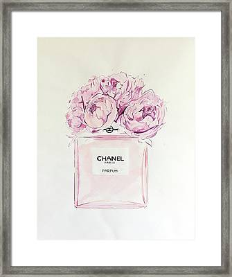 Chanel Peonies Framed Print