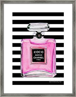 Chanel Pink Perfume 1 Framed Print