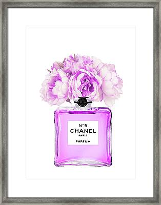 Chanel Print Chanel Poster Chanel Peony Flower Framed Print