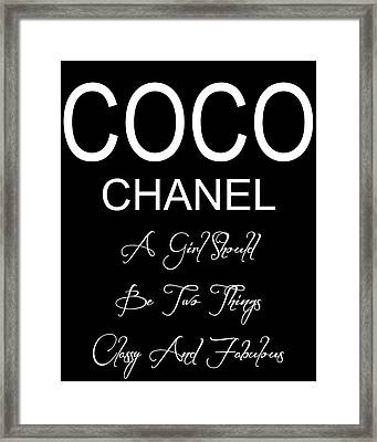 Chanel Quote 2 Framed Print
