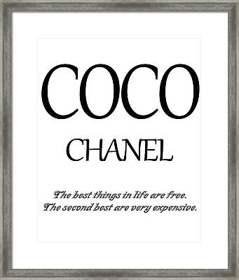 Chanel Quote Framed Print