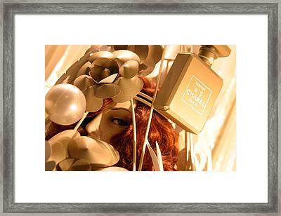 Chanel Shopping Framed Print by Jez C Self