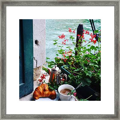 Chanel View Breakfast In Venezia Framed Print by Tamara Sushko