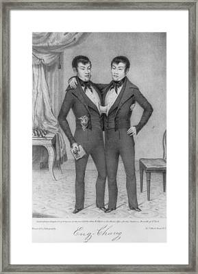 Chang And Eng, 1811-1874, Conjoined Framed Print by Everett