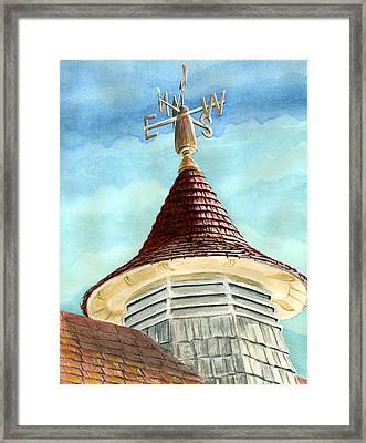 Change In The Wind Framed Print by Thomas Hamm