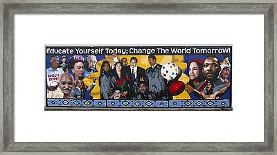 Change The World Framed Print