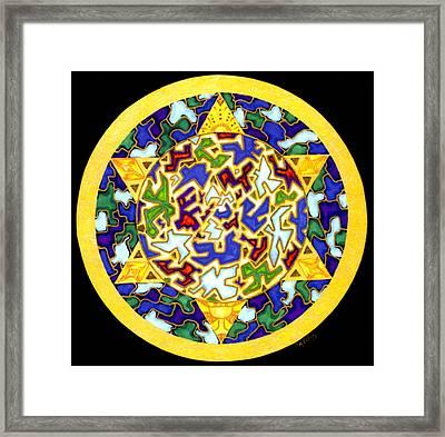 Changes   Mandala Series Framed Print by Pam Ellis