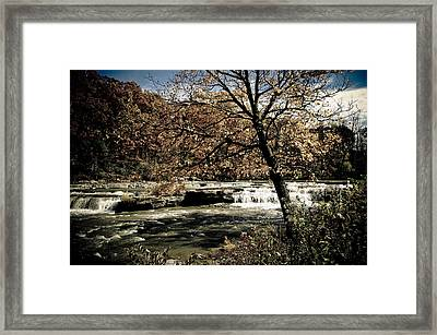 Changes Blowing In Framed Print by Melissa  Riggs