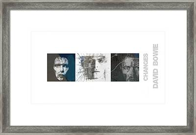 Changes David Bowie Triptych Framed Print