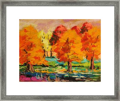 Changing Grove Framed Print by John Williams