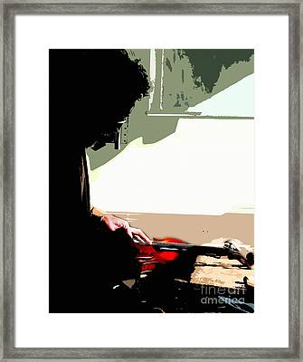 Changing Her G String Framed Print by Steven Digman