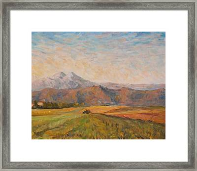Changing Light Triptych Part 2 Framed Print by Marco Busoni