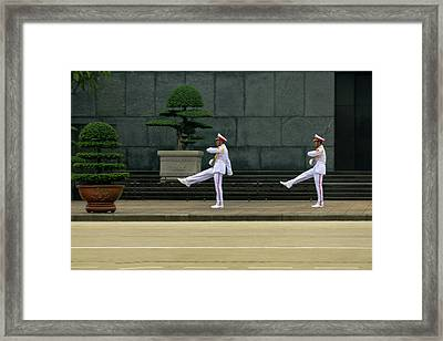 Changing Of Guard At Ho Chi Minh Mausoleum Framed Print