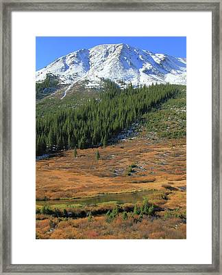 Changing Of Seasons In The Rockies Framed Print by Dan Sproul