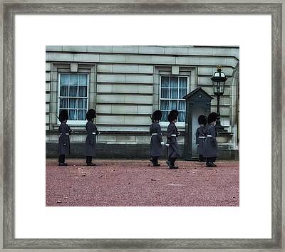 Changing Of The Guard Framed Print by Martin Newman