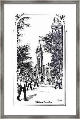 Changing Of The Guard Ottawa 1995 Framed Print by John Cullen