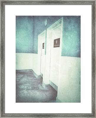 Changing Room Doors Framed Print by Tom Gowanlock
