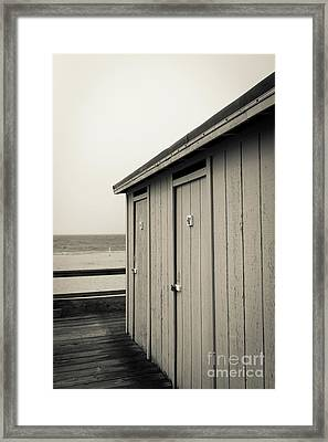 Framed Print featuring the photograph Changing Rooms At The Beach by Edward Fielding