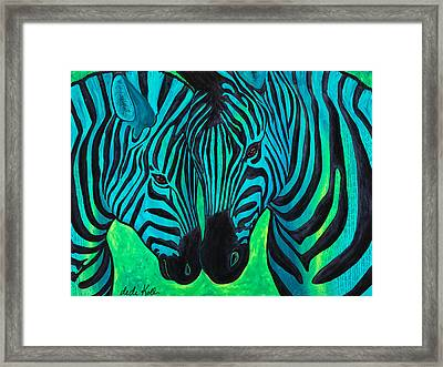 Changing Stripes Framed Print