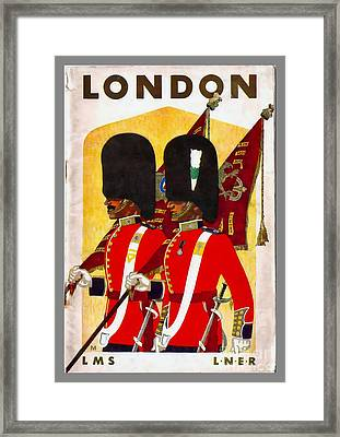 Changing The Guard London - 1937 Framed Print