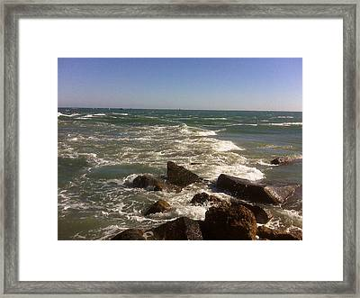 changing Tide Framed Print by Francis Roberts ll