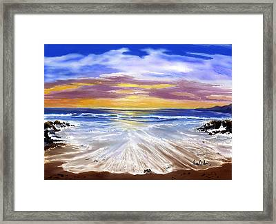 Framed Print featuring the painting Changing Tide by Sena Wilson