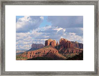 Framed Print featuring the photograph Changling Light - Cathedral Rock by Patricia Davidson