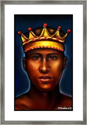 Chango -king Framed Print by Carmen Cordova
