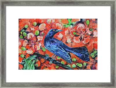 Chango On The Flamboyant Tree Framed Print