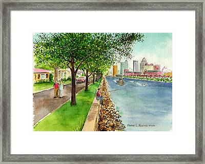 Channel Drive Tampa Florida Framed Print by Frank Hunter
