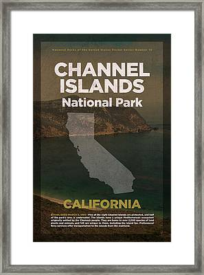 Channel Islands National Park In California Travel Poster Series Of National Parks Number 10 Framed Print by Design Turnpike