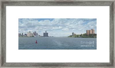 Channel Marker Framed Print by Ann Horn
