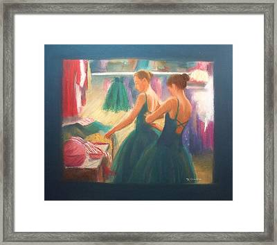 Channeling Degas Framed Print by Diane Caudle