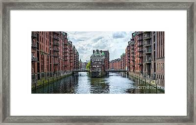 Channels Of Hamburg Framed Print