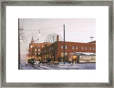 Chanpagne Velvet Brewery Framed Print by C Robert Follett