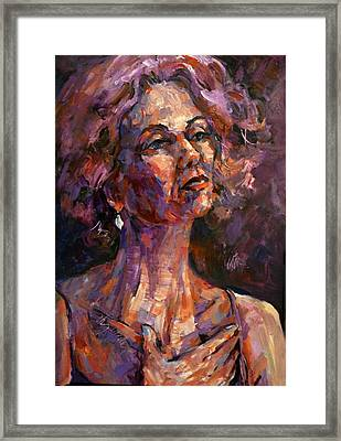 Chanteuse Framed Print by Joan  Jones