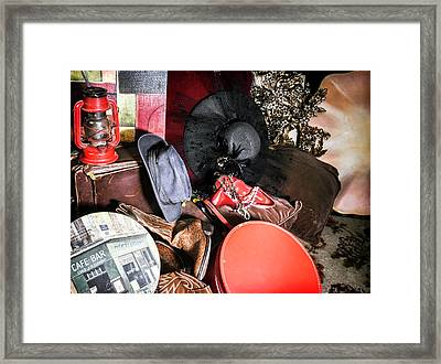 Chantilly Lace Meets Marlborlo Man Framed Print by Camille Lopez