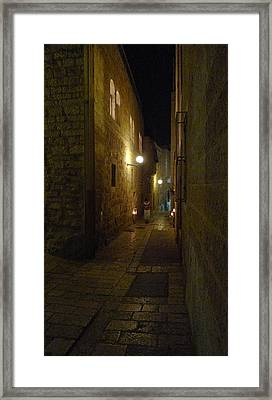 Framed Print featuring the photograph Chanukah At The Old City Of Jerusalem by Dubi Roman