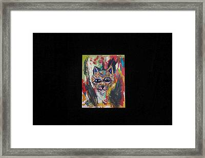Framed Print featuring the painting Chaos by AJ Brown