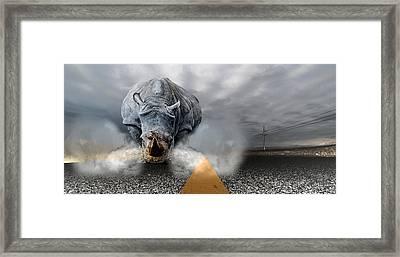 Framed Print featuring the digital art Chaos by Alex Grichenko
