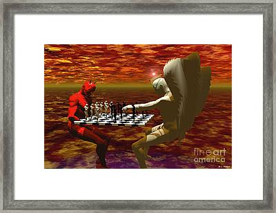 Chaos And Order Framed Print by ML Walker