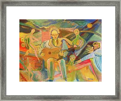 Framed Print featuring the painting Chaos And Redemption by John Keaton