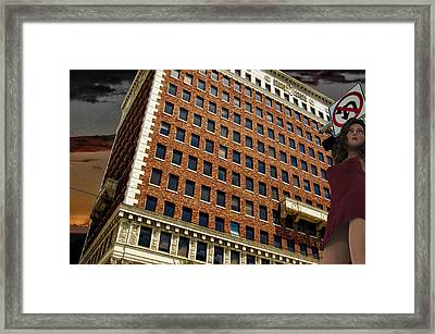 Chaos At The Federal Building Framed Print by Bob Winberry