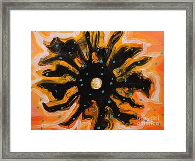 Chaos Atom Framed Print by Sandra Gallegos