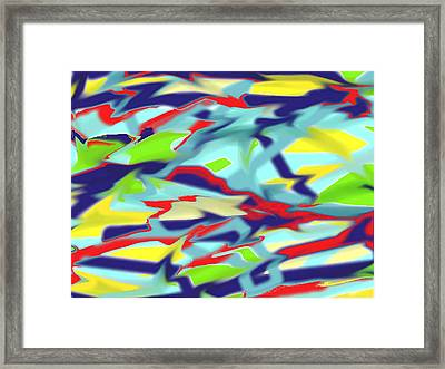 Chaos Into Form Blue Framed Print